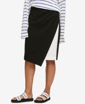 Dkny Asymmetrical Colorblocked Skirt, Created for Macy's thumbnail