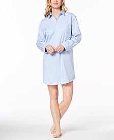 Lauren Ralph Lauren Knit Checked Sleepshirt