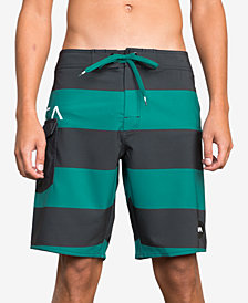 RVCA Men's Striped Swim Trunks