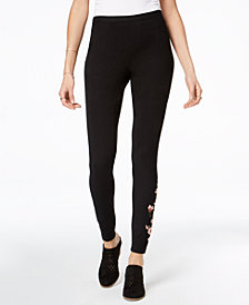 Style & Co Petite Embroidered Leggings, Created for Macy's