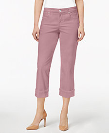 Style & Co Curvy Cuffed Capri Jeans in Regular & Petite Sizes, Created for Macy's