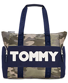 Tommy Hilfiger Nylon Sporty Camo Tote