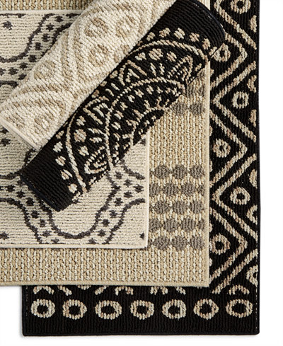 Charter Club Scatter Geo-Print Accent Rugs, Created for Macy's