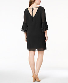 BCX Trendy Plus Size Chiffon Necklace Dress