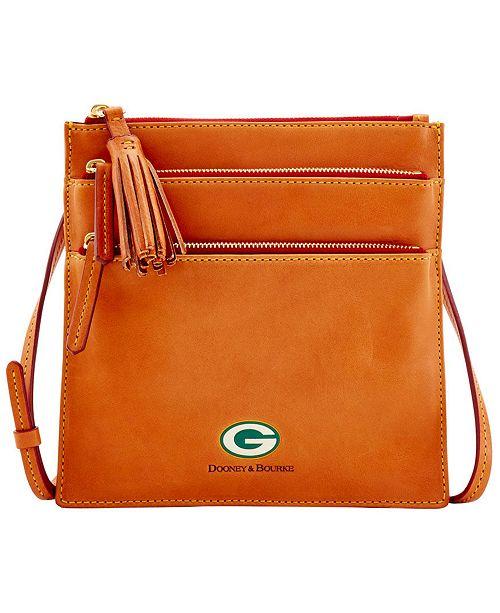Dooney & Bourke Green Bay Packers Florentine Triple Zip Crossbody Bag