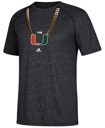 adidas Men's Miami Hurricanes Primary Chain T-Shirt