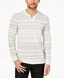 I.N.C. Men's Striped Long-Sleeve T-Shirt, Created for Macy's
