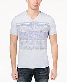 I.N.C. Men's Stripe V-Neck T-Shirt, Created for Macy's