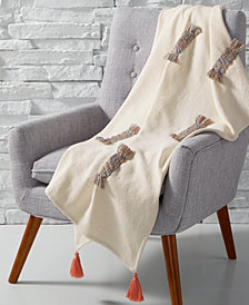 CLOSEOUT! Whim by Martha Stewart Collection Rainbow Throw, Created for Macy's