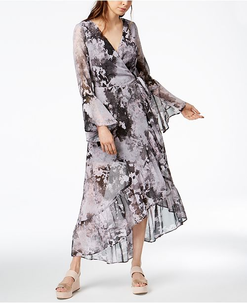 6be155d085 ... Bar III Asymmetrical Maxi Wrap Dress