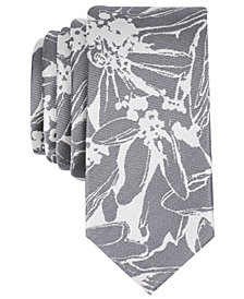 Bar III Men's Totness Abstract Floral Skinny Tie, Created for Macy's