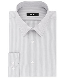 DKNY Men's Slim-Fit Stretch Stripe Dress Shirt, Created for Macy's
