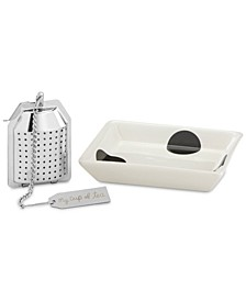 All in Good Taste Deco Dot Tea Infuser Gift Set