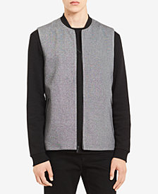 Calvin Klein Men's Classic-Fit Piqué Full-Zip Vest