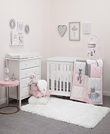 Ballerina Bows 4-Piece Crib Bedding Set