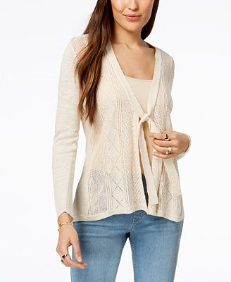 Style & Co Tie-Front Cardigan, Created for Macy's