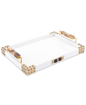 Zuo Rectangular Tray With Horn & Agate Handles