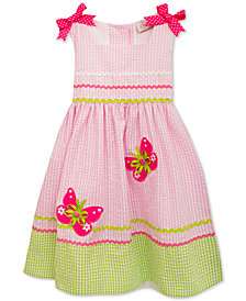 Rare Editions Butterfly Seersucker Dress, Baby Girls