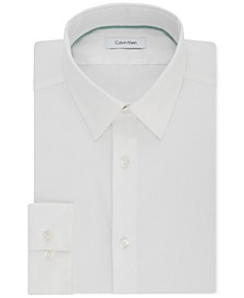 Men's STEEL Slim-Fit Non-Iron Performance Stretch Point Collar White Dress Shirt