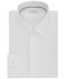 Men's STEEL Slim-Fit Non-Iron Performance Stretch Point Collar White Dress Shirt