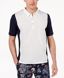 Daniel Hechter Paris Men's Ash Mix-Media Colorblocked Polo