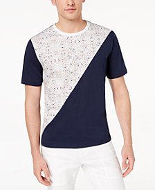 Daniel Hechter Paris Men's Colorblocked Graphic-Print T-Shirt, Created for Macy's