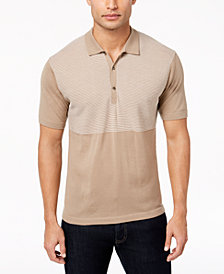 Daniel Hechter Paris Men's Aiden Wool Stripe Polo