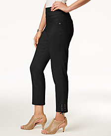 Style & Co Lace-Up Hem Capri Pants, Created for Macy's