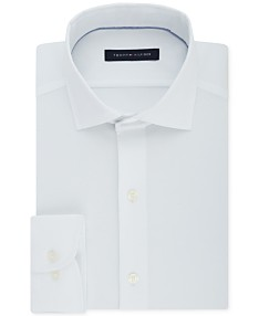 4f1cf089 Tommy Hilfiger Men's Classic/Regular Fit Non-Iron Performance Stretch Solid  Dress Shirt