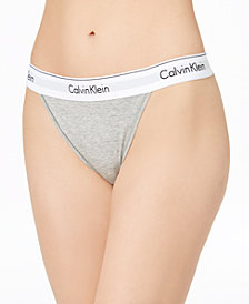 Calvin Klein Logo-Waist Tanga QF4977