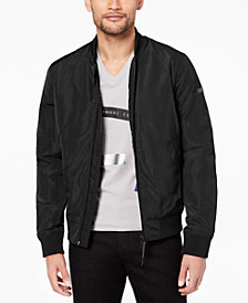 A|X Armani Exchange Men's Padded Full-Zip Bomber Jacket