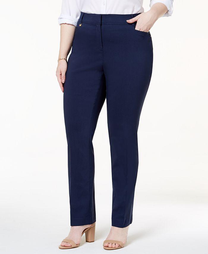 JM Collection - Plus Size Slim Leg Pants
