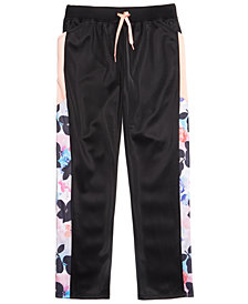 Ideology Tropical-Print Track Pants, Big Girls, Created for Macy's