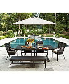 CLOSEOUT! Savannah Outdoor Dining Collection, with Sunbrella® Cushions, Created for Macy's