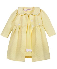 Blueberi Boulevard 2-Pc. Coat & Dress Set, Little Girls (2-6X)