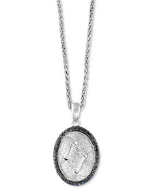 EFFY® Diamond Oval Pendant Necklace (1-1/4 ct. t.w.) in Sterling Silver