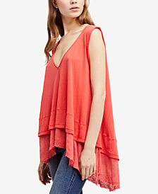 Free People Peachy Cotton Layered-Look Top