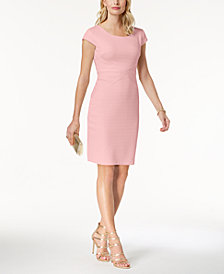 sangria Textured Petite Sheath Dress