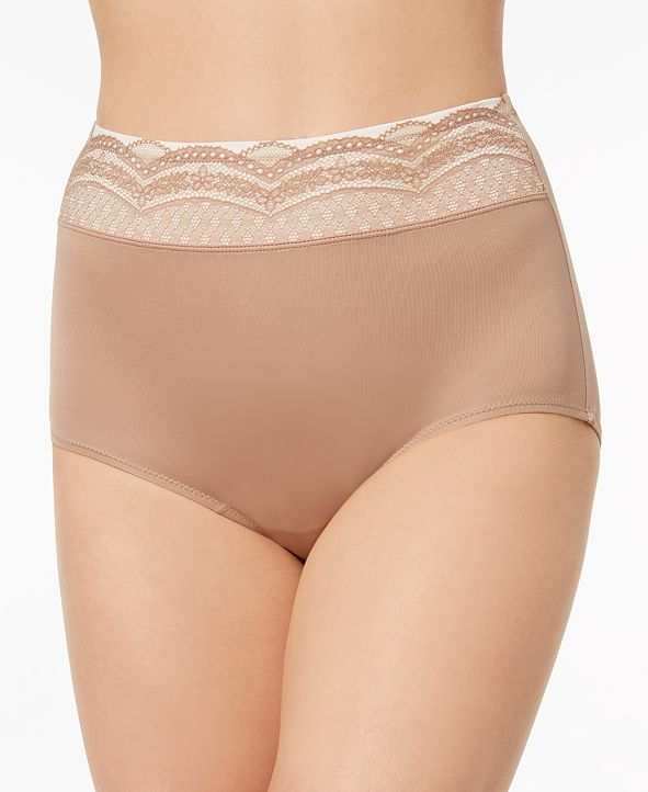 Warner's No Pinching No Problems Lace-Waist Brief Underwear RS7401P