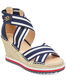 Tommy Hilfiger Yesia Espadrille Platform Wedge Sandals, Created for Macy's