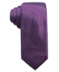Alfani Men's Geometric Diamond Silk Slim Tie, Created for Macy's