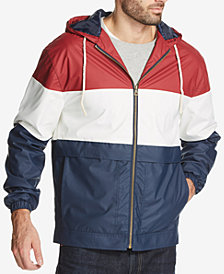 Weatherproof Vintage Men's Colorblocked Full-Zip Hooded Jacket, Created for Macy's