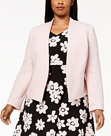 Nine West Plus Size Flyaway Blazer