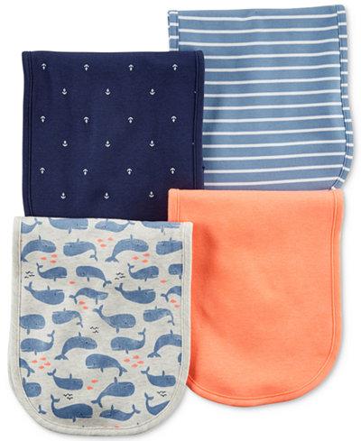 Carter's 4-Pack Graphic-Print Burp Cloths, Baby Boys