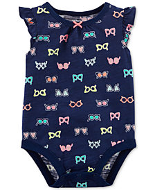 Carter's Sunglass-Print Cotton Bodysuit, Baby Girls