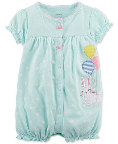 Carter's Bunny Cotton Romper, Baby Girls