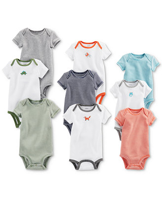 9 Pk. Grow With Me Cotton Bodysuits Set, Baby Boys by Carter's
