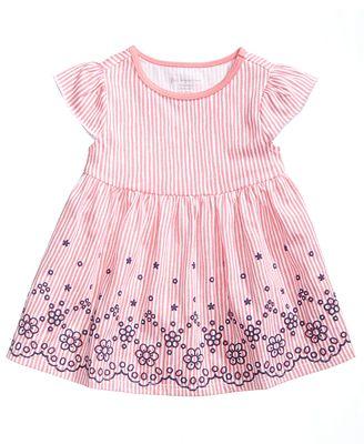First Impressions Eyelet Border Cotton Tunic, Baby Girls, Created for Macy's