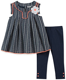 Kids Headquarters Tunit & Leggings Set, Baby Girls