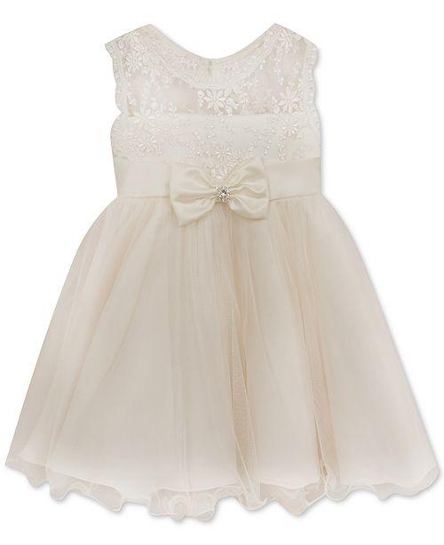 65de24e5980f Rare Editions Baby Girls 24M Ivory Lace Illusion Dress   Reviews ...